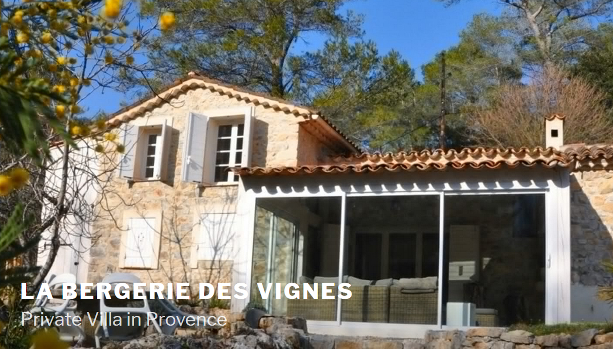 Le Bergerie des Vignes, Villa Rental, France