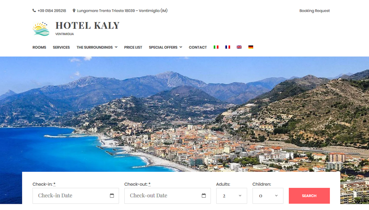 Hotel Kaly, Italy, Online Reservation