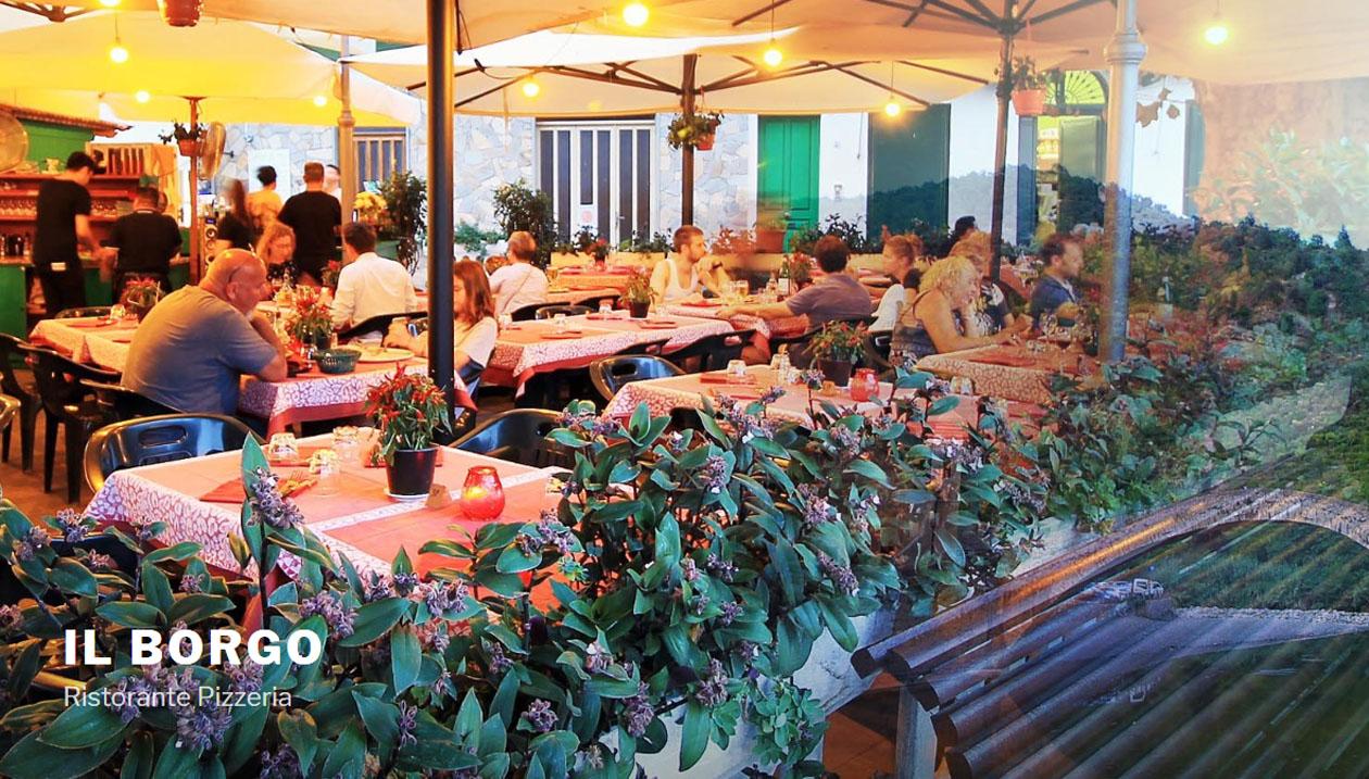 Restaurant in Dolceacqua, Italy