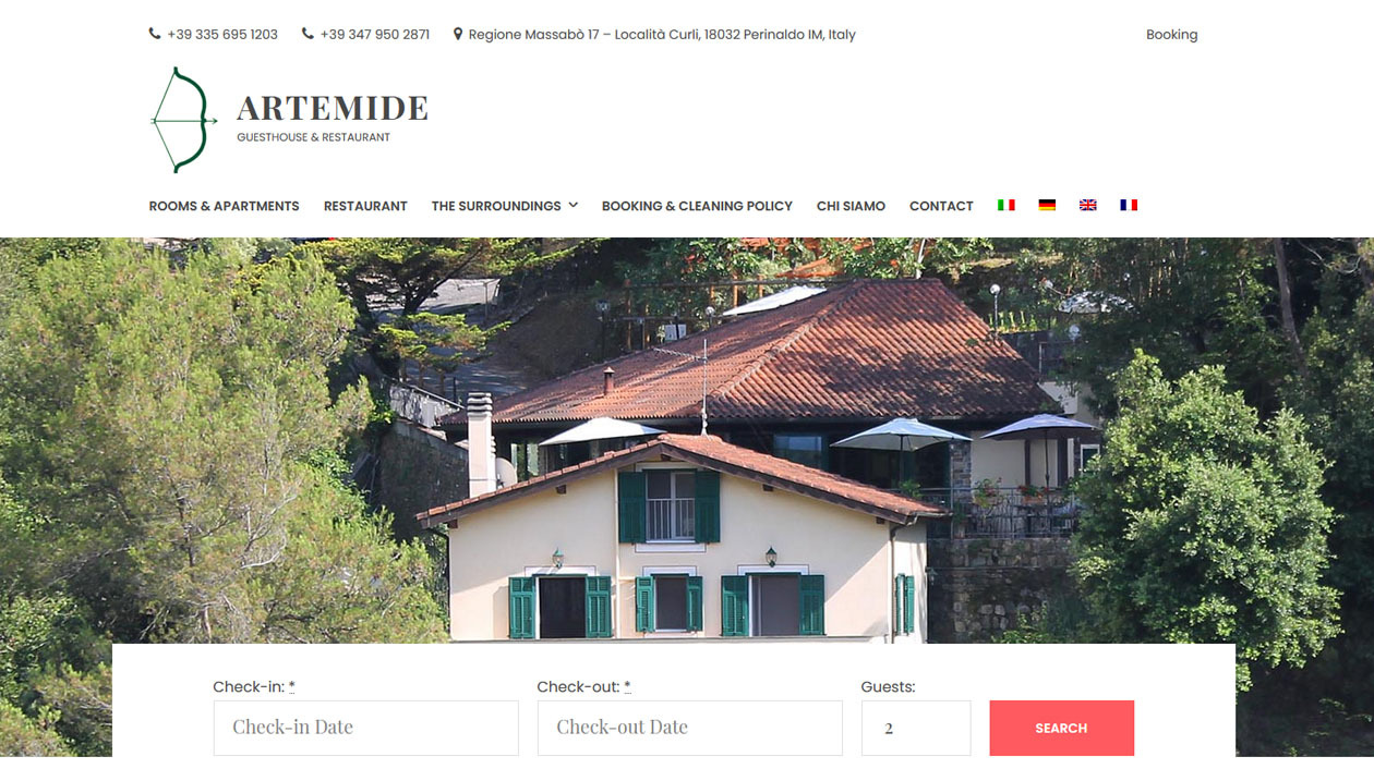Guest House Artemide, Guesthouse and Restaurant, Italy